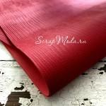 Переплётный кожзам матовый, текстура: Ящерица, цвет:Красный, отрез размером 25х70 см, тонкий, KZ000437