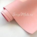 Переплётный кожзам Crump, цвет:Нежно-розовый, отрез размером 27х70 см(+/- 1см), тонкий, KZ000450
