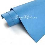 Переплётный кожзам MATTE, цвет:Светло-Голубой, отрез размером 25х70 см(+/- 1см), тонкий, KZ000455