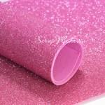 Фоамиран с глиттером, ярко-Розовый, толщина 1,8 мм, размер 20х30 см(+/- 1см), KZ000471