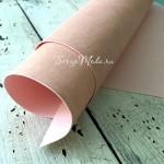 Переплётный кожзам матовый (экокожа), текстура Мантуя, цвет:Розовато-персиковый, отрез размером 33х70 см, тонкий, KZ000474