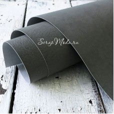 Переплётный кожзам матовый, текстура Мантуя (мятая кожа), цвет:Светло-Серый, отрез размером 33х70 см, тонкий, KZ000506