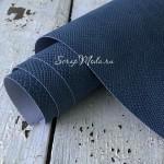 Переплётный кожзам, матовый, текстура:питон, Светло-Синий, отрез размером 25х70 см. KZ000509