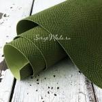 Переплётный кожзам, матовый, текстура:питон, Елово-Зелёный, отрез размером 33х70 см. KZ000514