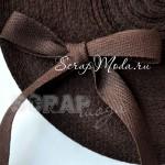 Лента хлопковая, шоколадная, 13 мм, 1 м.