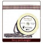 Лента двусторонняя, Happy Holidays 199, 15 мм., Fancy Pants designs, 1 метр