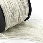 Бусинная  нить, Белая, 1,5 мм бусина, цена за 1 метр. LE000335