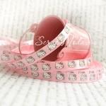 Лента Атласная, Розовая Hello Kitty, 10 мм., цена за 1 метр.,  LE000421