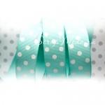 Лента репсовая Polka Dot, цвет Тиффани, ширина 20 мм., цена за 1 метр, LE000457