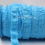 Резиночка с рюшами, ширина 16 мм, бирюзовая, цена за 1ярд. LE000476