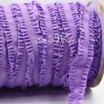 Резиночка с рюшами, ширина 16 мм, фиолетовая, цена за 1ярд. LE000477