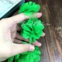 Шифоновые цветочки, цвет салатовый, размер 6 см., цена указана за 1 шт., LE000485