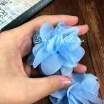 Шифоновые цветочки, цвет голубой, размер 6 см., цена указана за 1 шт., LE000486