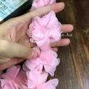 Шифоновые цветочки, цвет розовый, размер 6 см., цена указана за 1 шт., LE000489
