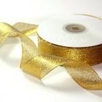 Лента золотая, металлизированная 10 мм, цена за 1 метр, LE000494