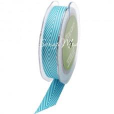 Лента твиловая Бирюзовая, размер 2см., May Arts, цена за 1 метр, LE000496