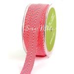 Лента твиловая Красная, размер 2см., May Arts, цена за 1 метр, LE000497