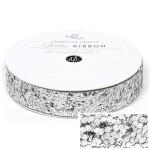 Лента Solid Large Glitter Ribbon-Silver,  катушка крупной глиттерной ленты,  ширина 1,5 см., длина 3 ярда, American Crafts, LE000500