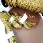 Резиночка Золотая, ширина 7 мм, цена за 1 метр, LE000508
