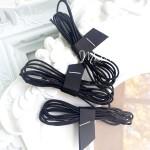 Резинка чёрная, круглая, диаметр 1 мм., цена за 1 метр, LE000517