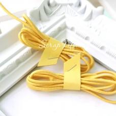 Резинка желтая, круглая, диаметр 2 мм., цена за 1 метр, LE000524