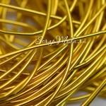 Резинка Золото, круглая, диаметр 1,5 мм., цена за 1 метр, LE000534