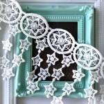 Кружево хлопковое Кисточки-Звездопад, ширина 9 см, цвет:белый. LE000558