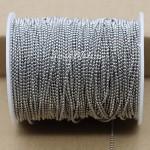Бусинная нить, Серебро, 1,5 мм бусина, цена за 1 метр, LE000588