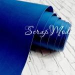 Переплётный кожзам матовый (экокожа), текстура:матовый, Ярко-синий, цена за отрез: 33х70 см, тонкий, толщина 1 мм. LI000016