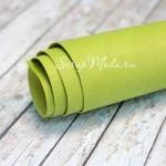 Переплётный кожзам матовый (экокожа), текстура:матовый, Зелёное яблоко, цена за отрез: 25х70 см, тонкий, толщина 1 мм. LI000021