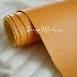 Переплётный кожзам матовый (экокожа), текстура:матовый,  Жёлтая охра, цена за отрез: 25х70 см, тонкий, толщина 1 мм. LI000025