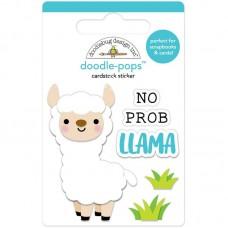Стикер 3D mini no prob-Lama с эпоксидными элементами, высота 6 см., Doodlebug, LI000047