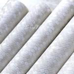 Кожзаменитель Соты, гладкий, перламутровый, цвет: молочный, отрез размером 33х50см(+/- 1см), тонкий 0,5 мм, на тканной основе. LI000067