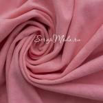 Замша искусственная, цвет Розовый, односторонняя, отрез размером 25х100см(+/- 1см), ТОНКАЯ, LI000115