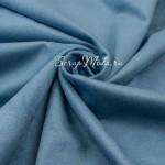 Замша искусственная, цвет Серо-Голубая, односторонняя, отрез размером 25х100см(+/- 1см), ТОНКАЯ, LI000118
