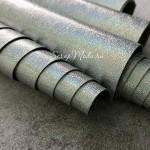 Кожзаменитель Голограмма, гладкий, перламутровый, цвет: серебро, отрез размером 33х50см(+/- 1см), тонкий 0,5 мм, на тканной основе. LI000125