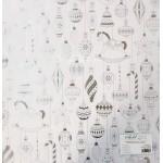 """Ацетатный лист Polkadot с серебряным фольгированием """"Ёлочные игрушки"""" , размер 30,5х30,5 см. LI000131"""