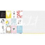 Бумага двусторонняя Карточки, Коллекция 16+, размер 30х30см, Polkadot. LI000135