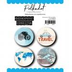 "Набор фишек из коллекции ""Вокруг света"", 4 шт., Polkadot, LI000138"