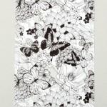 Калька декоративная нанесение черное и белое, Бабочки, размер 29,7x21 см, плотность 180 г/м, Арт Узор, LI000153