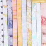 Набор бумаги Радужные Мечты, 10 листов, размер 20 х 20 см, 250 г/м, АртУзор, LI000163