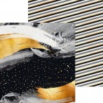 Бумага двусторонняя Новогодняя Ночь, размер 15,5х15,5см, 180 г/м, АртУзор, LI000166