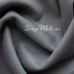 Замша искусственная, цвет Серый, односторонняя, отрез размером 33х74см(+/- 1см), ТОНКАЯ, LI000181