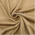 Замша искусственная, цвет Песочный, односторонняя, отрез размером 25х50см(+/- 1см), ТОНКАЯ, LI000189