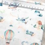 Хлопок Воздушные шары на белом фоне, размер 33х50 см., Unicornfabrics, LI000194