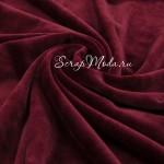 Велюр стрейч, цвет Марсала, размер 33х150 см., LI000204