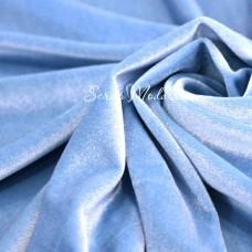 Велюр стрейч, цвет Голубой, размер 33х150 см., LI000209