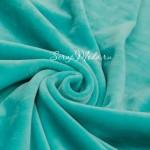 Велюр стрейч, цвет Мятный, размер 33х75 см., LI000214