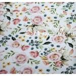Хлопок Разноцветье, на белом фоне, размер 33х50 см, Unicornfabrics, LI000221