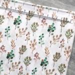 Хлопок Растения, на белом фоне, размер 33х50 см, Unicornfabrics, LI000225